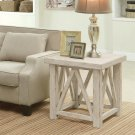 Aberdeen - Side Table - Weathered Worn White Finish Product Image