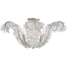 Visual Comfort NW4051BSL-CG Niermann Weeks Calais 6 Light 26 inch Burnished Silver Leaf Semi-Flush Mount Ceiling Light, Niermann Weeks, Large, Clear Glass