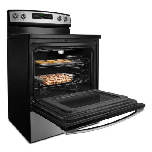 30-inch Electric Range with Extra-Large Oven Window - white