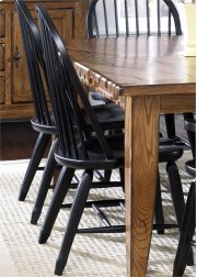 Bow Back Side Chair - Black Product Image