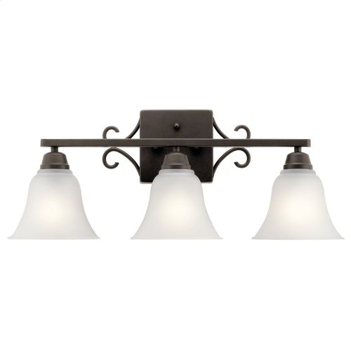 Bixler 3 Light Vanity Light with LED Bulb Olde Bronze®