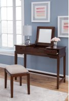 Vanity and Upholstered Bench Espresso Product Image