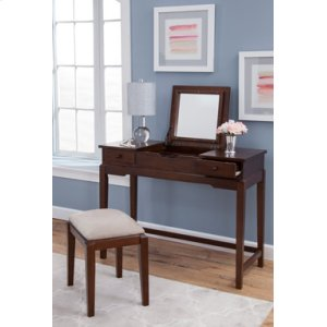 JOHN THOMAS FURNITUREVanity and Upholstered Bench Espresso