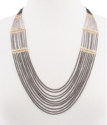 BTQ Mixed Metal Long Draped Necklace