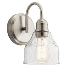 Avery 1 Light Wall Sconce Brushed Nickel