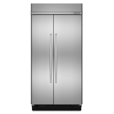 30 Cu. Ft. 48-Inch Width Built-In Side-by-Side Refrigerator - Stainless Steel