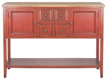 Charlotte Storage Sideboard - Egyptian Red / Oak