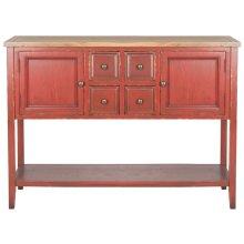 Charlotte Storage Sideboard - Egyptian Red / Oak