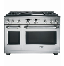 """48"""" Dual-Fuel Professional Range with 4 Burners, Grill, and Griddle"""
