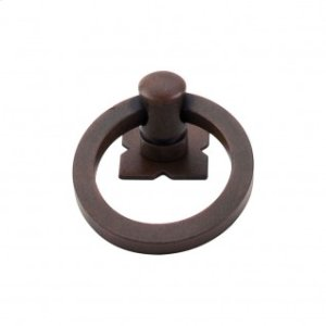 Smooth Ring 1 9/16 Inch w/Backplate - Patina Rouge