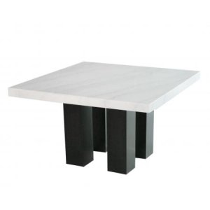 Steve Silver Co.Camila 54 inch Square White Marble Top Counter Table