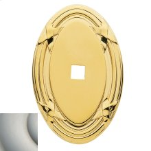 Satin Nickel Oval Edinburgh Back Plate