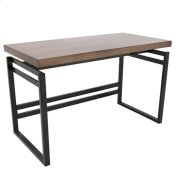 Drift Desk - Black Metal, Walnut Wood Product Image