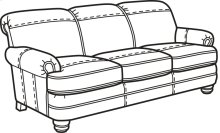 Bay Bridge Nuvo Sofa without Nailhead Trim