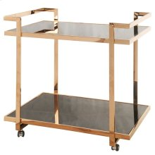 Belmonte Cart With Glass, Rose Gold