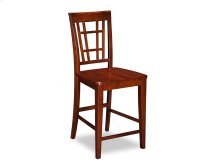 Montego Bay Pub Chairs Set of 2 with Wood Seat in Walnut