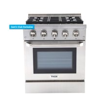 30 Inch Professional Dual Fuel Range In Stainless Steel