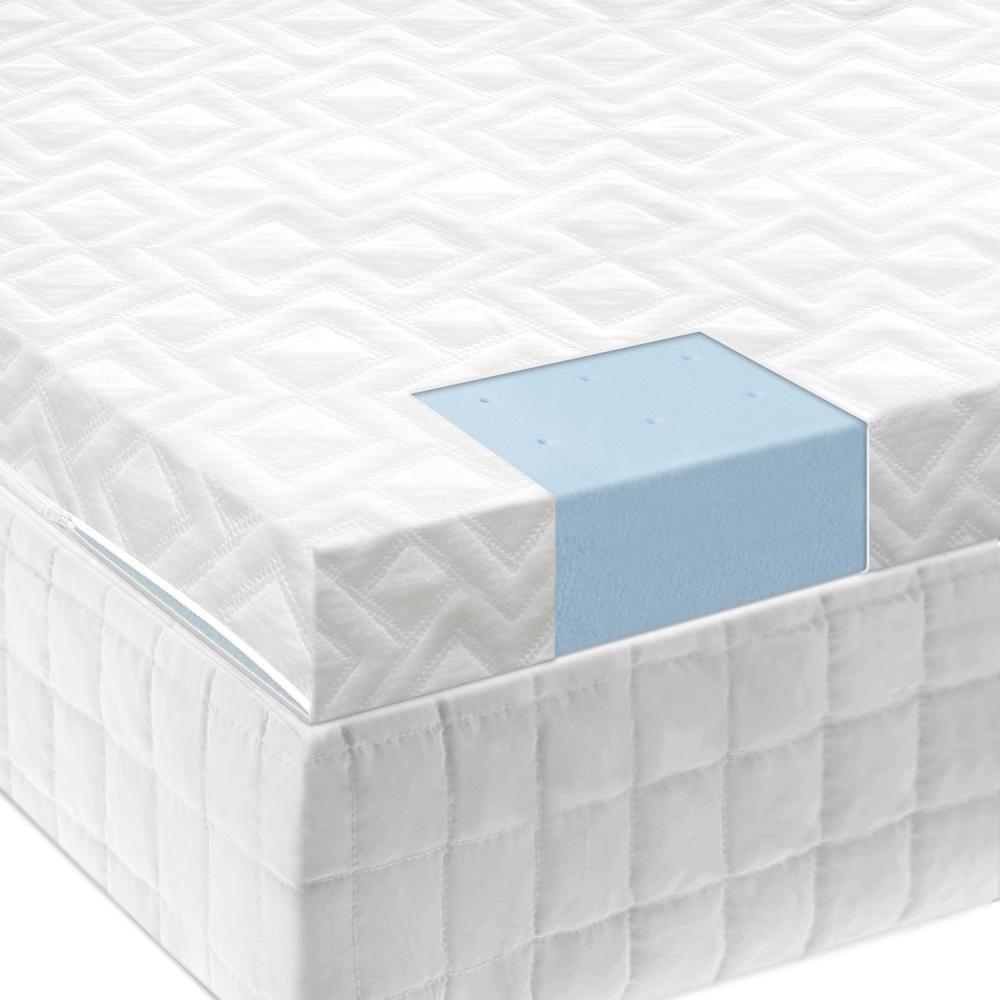 """2.5"""" Gel Memory Foam Mattress Topper - Queen"""