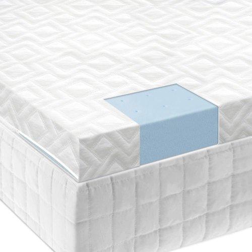 """2.5"""" Gel Memory Foam Mattress Topper - King"""