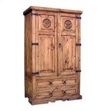 San Gabriel Armoire W/ Star With Star