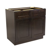 Brookings Unassembled Shaker Base Kitchen Cabinet 48x34.5x24, Espresso #562017