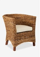 (SP) U Chair Abaca Small Astor w/ Cushion (28x27x30) Product Image