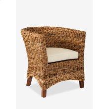 (LS) U Chair Abaca Small Astor w/ Cushion (28x27x30)