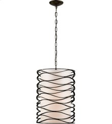 Visual Comfort S5046AI-L Barry Goralnick Bracelet 1 Light 16 inch Aged Iron Pendant Ceiling Light