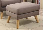 Sq Cocktail Ottoman Solid Hjm08-6 Brown