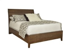 Queen Wood Plank Bed with Wooden Base