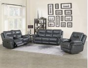 """Isabella Console Loveseat Recliner Grey 80""""x37.5""""x42 Product Image"""