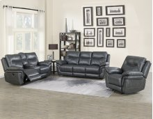 "Isabella Recliner Sofa Grey 90""x37.5""x42"""