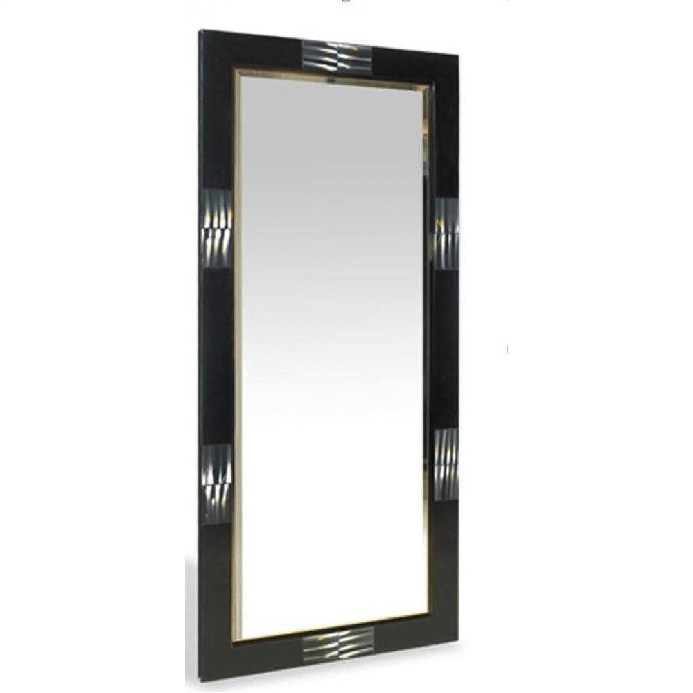 A&X Bellagio Black Gloss Floor Mirror