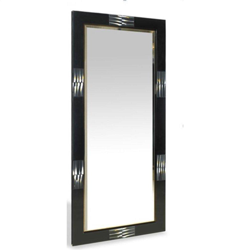 A&X Bellagio Black Gloss Floor Mirror