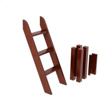 Low Loft Legs with Angle Ladder : Chestnut