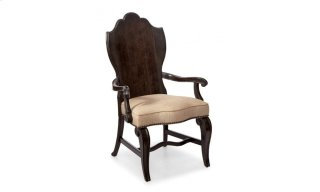 Continental Wood Back Arm Chair - Vintage Melange