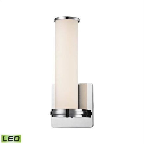 Baton LED Wall Sconce - 13W White Opal Glass with Chrome Finish