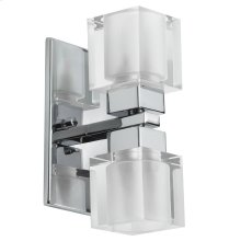 2lt Wall Sconce Cube Crystal