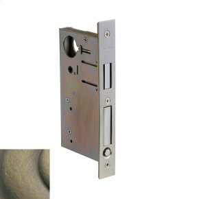 Satin Brass and Black 8632 Pocket Door Lock with Pull
