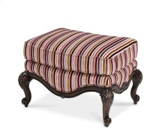 Wood Trim Chair Ottoman - Opt1