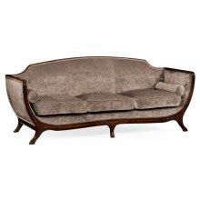 Empire Style Sofa (Mahogany/Velvet Truffle)