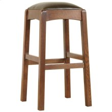 Counter Stool, Oak Backless Stool