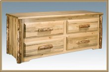 Glacier Country Log 4 Drawer Sitting Chest