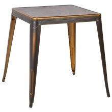 Bristow Antique Metal Table In Antique Copper (kd)