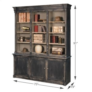 Sarreid Ltd Brothers Black Bookcase