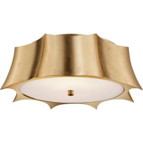 Visual Comfort AH4027G-FG Alexa Hampton Peter 2 Light 16 inch Gild Flush Mount Ceiling Light