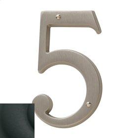 Satin Black House Number - 5