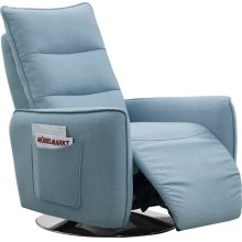 Divani Casa Fairfax Modern Blue Fabric Recliner Chair