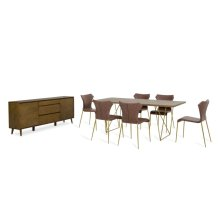 Modrest Marcia Modern Tobacco Dining Set