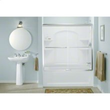 "Finesse™ Sliding Bath Door featuring Quick Install™ Mounting System - Height 55-3/4"", Max. Opening 57"" - Deep Bronze"